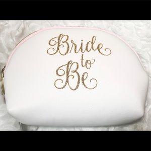 Handbags - Wedding Bridal Makeup Bag Pouch with zipper